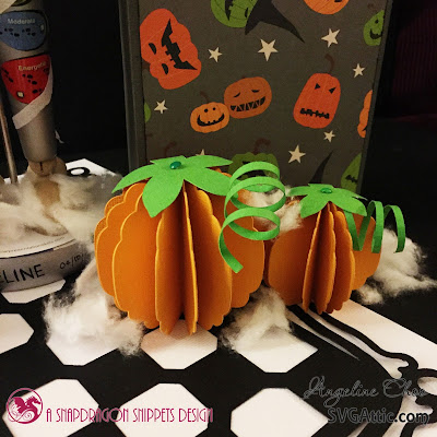 SVG Attic: Spooktacular Frightful Halloween with Angeline #svgattic #scrappyscrappy #halloween #diecut #svg #papercraft