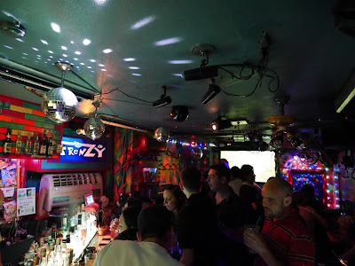 The disco ball spins all night long at Frenz gay bar in Osaka.