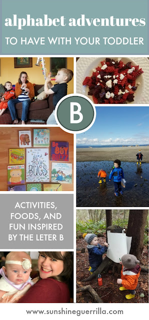 Activities for toddlers and preschoolers that begin with B
