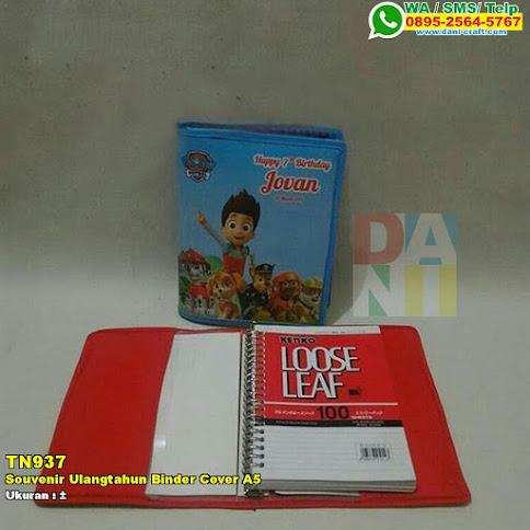 Souvenir Ulangtahun Binder Cover A5
