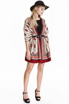 kardigan H&M modne stylizacje jesień 2016 wyprzedaż blog modowy folkowa stylizacja