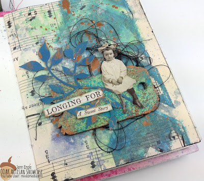 Mixed Media Jenn OOAK Artisans Gelli Plates Art Journalling