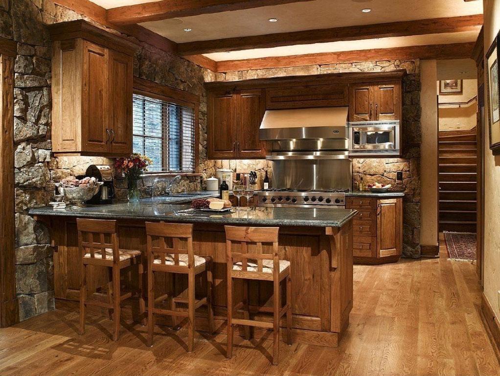 Ideen Design eine schöne rustikale Küche Küche für eine angenehme ...