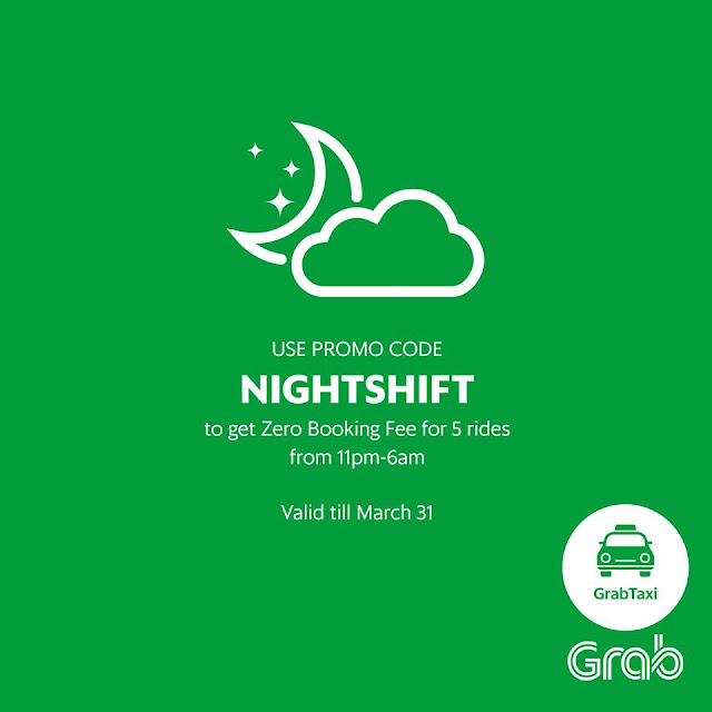 "GrabTaxi Promocode for March 2016 ""NIGHTSHIFT"""