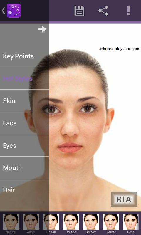 Makeover Wajah Dengan Aplikasi Android, Perfect365 (Review)
