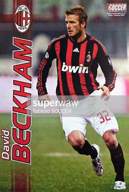 David Beckham AC Milan 2008