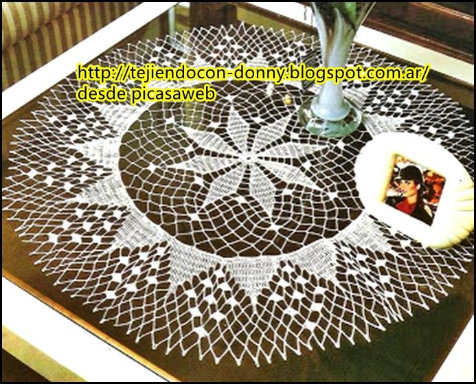 TEJIDOS A CROCHET - GANCHILLO - PATRONES: Carpetas o tapetes a crochet