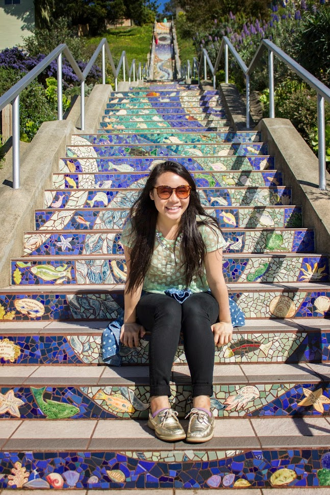 16th Avenue Tiled Steps, mosaic steps, san francisco, moraga steps