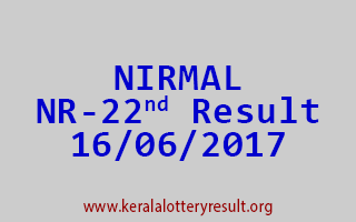 NIRMAL Lottery NR 22 Results 16-6-2017