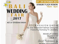 Bali Wedding Fair 2017 Digelar 27-29 Oktober 2017