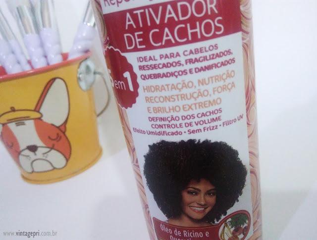 #Testei: Ativador de Cachos Rícino e Queratina SOS Cachos (Salon Line)
