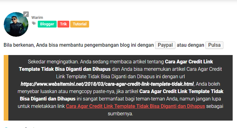 Membuat Permalink ala Blog Website Mini