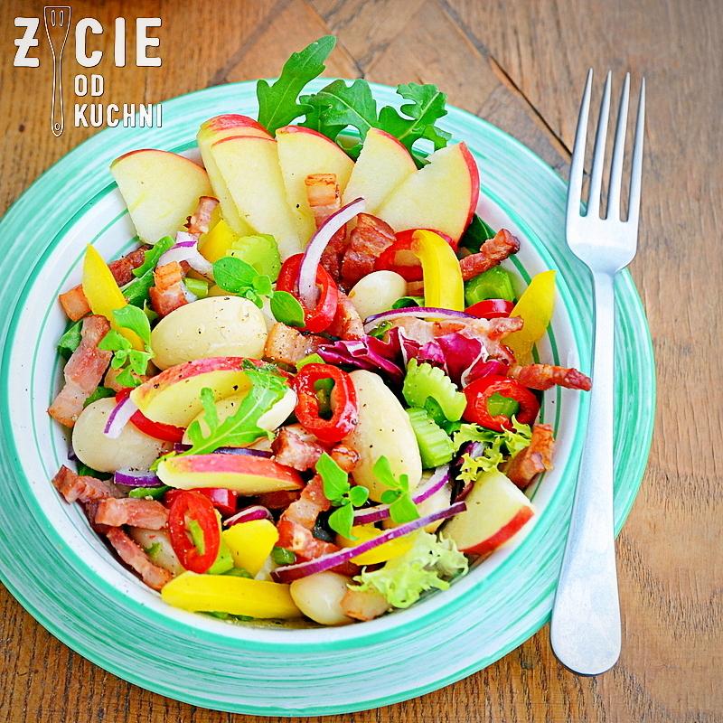 salatka z fasola, fasola piekny jas, jablko lackie, malopolskie przepisy, malopolskie produkty regionalne, malopolska do zjedzenia, zycie od kuchni