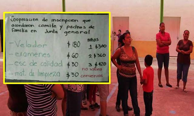 Humillan a alumna de primaria por no pagar cuota.