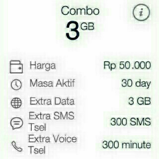 PROMO Inject Kuota Telkomsel 3GB 50rb
