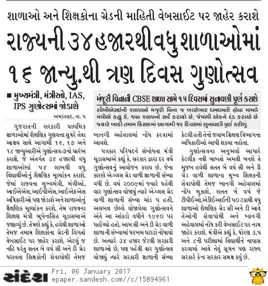 Gunotsav 7 Latest News