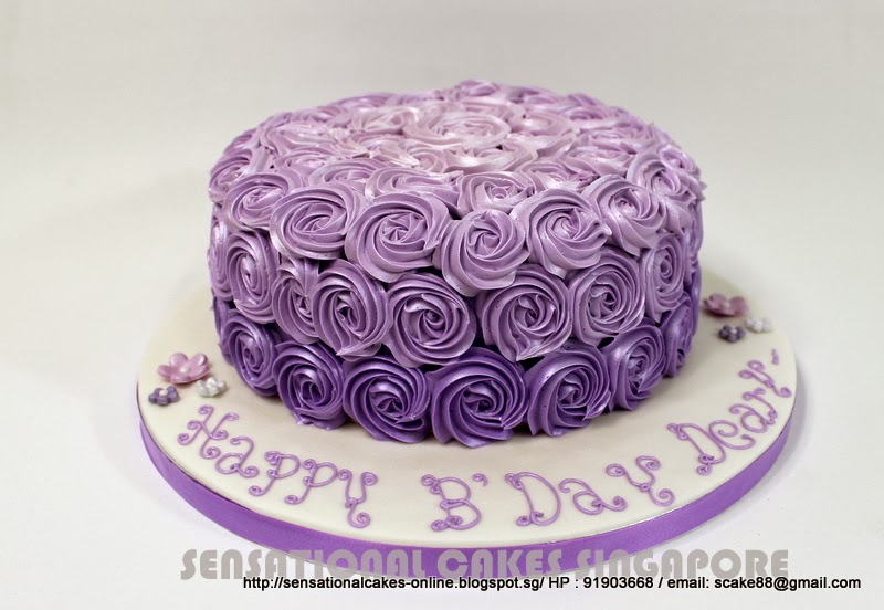 Cakes2share Singapore Perfect Art Of Rosette Swirls Rainbow Cake