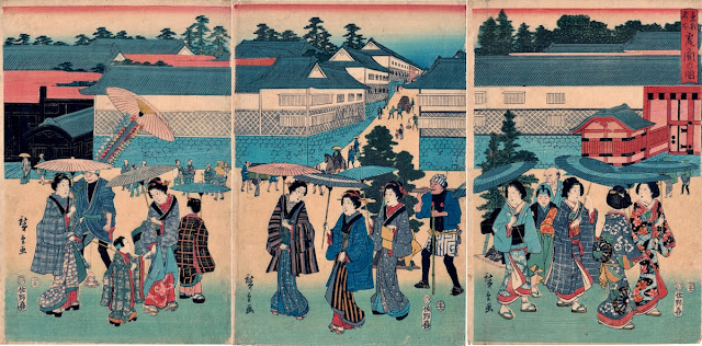 Hiroshige, Famous Places of the Eastern Capital, Kasumigaseki