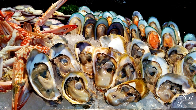Oysters and Mussels Buffet at Spectrum Fairmont Hotel Makati Manila PH