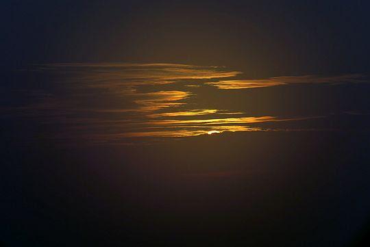 Pojawił się rąbek słońca.