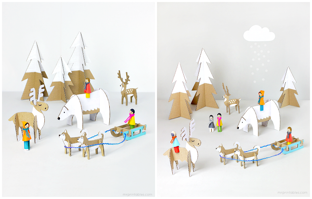 cardboard Winter Wonderland