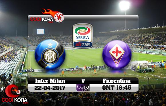 مشاهدة مباراة فيورنتينا وإنتر ميلان اليوم 22-4-2017 في الدوري الإيطالي