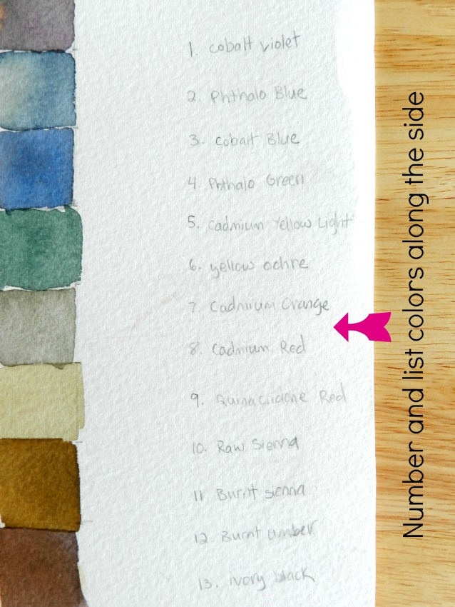 How to make a color chart