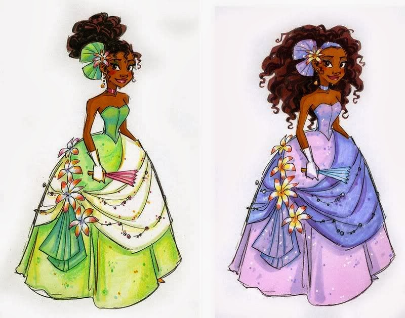Naturally Beautiful Hair: Princess Tiana Fan Art