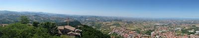 Vistas desde San Marino.