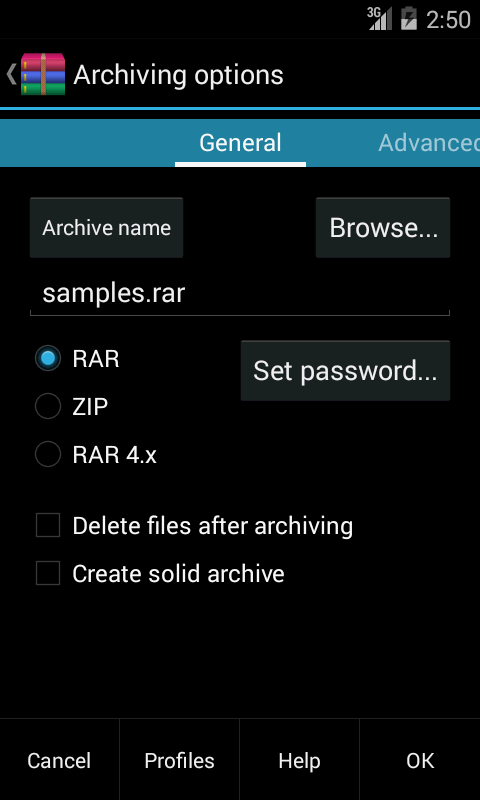 RAR for Android Full Version