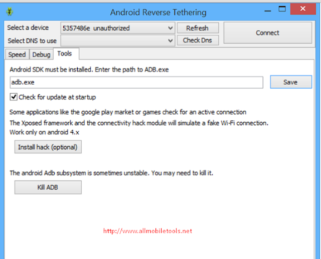 Android Reverse Tethering Tool Latest Version V3.19 Free Download