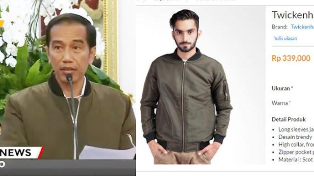 Jaket Bomber Jokowi Jadi Buruan Netizen, Ingin Tahu Harganya? Ini Dia