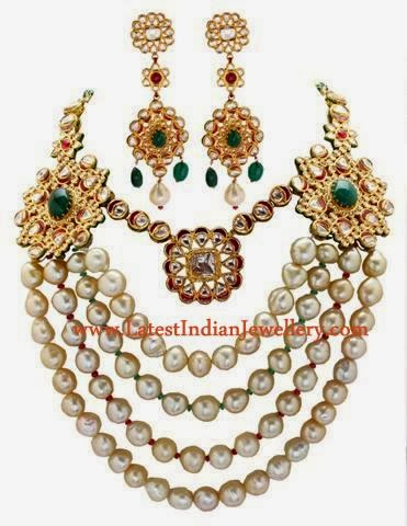 Contemporary Jadau Bridal Necklace