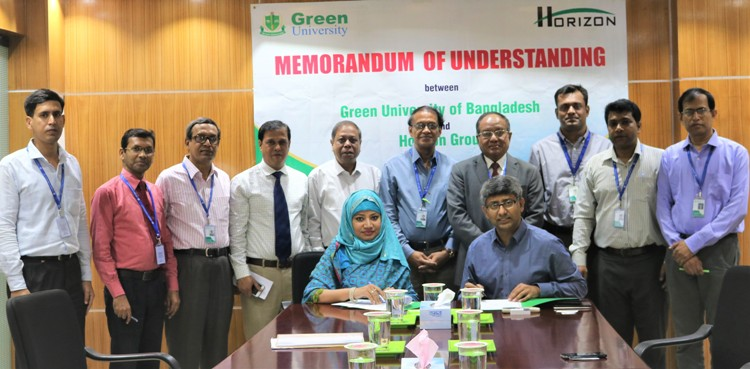 Green University Signed MoU with Horizon