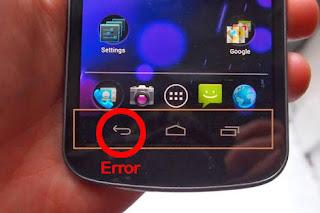 Tombol kembali android rusak