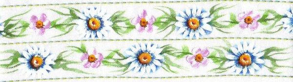 pintura em tecido flores barrado pano de prato