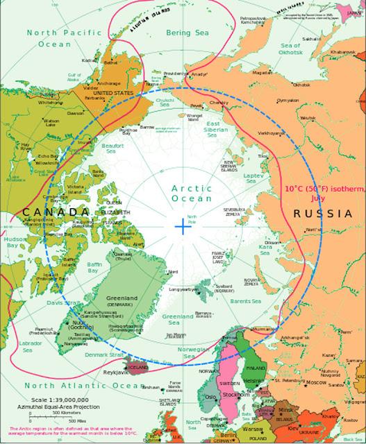 Gambar Peta Laut Artik melingkar