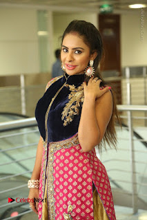 Telugu Actress Sri Reddy Mallidi Stills in White Beautiful Dress at Marriage Needs Bridal Fashion Week 2017 Logo Launch  0074.JPG