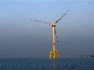 energía eólica aerogenerador marino gigante