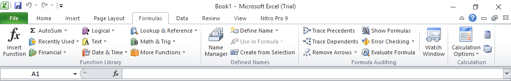 Menu Formulas Pada Microsoft Excel