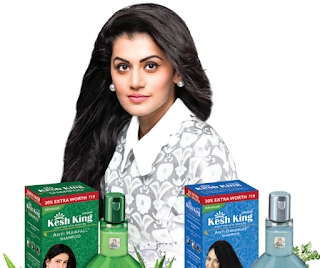 KESH KING ROPES IN TAPSEE PANNU OF 'PINK'FAME FOR SHAMPOO & CONDITIONER