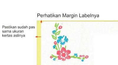 margin dan ukuran label nama undangan