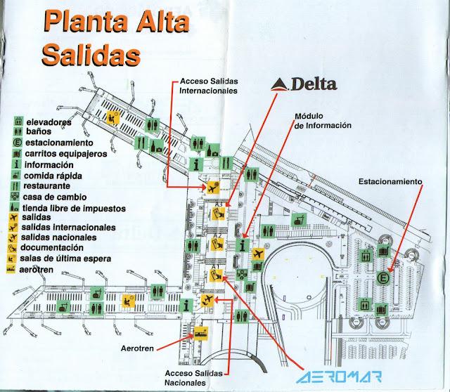 Medidas de Seguridad en el Aeropuerto - Planta Alta, Salidas - Terminal 2 - AICM