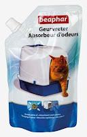 Beaphar granulés absorbeurs d'odeurs pour litière 400 grs