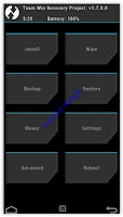 twrp recovery menu