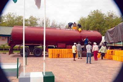 Custom Intercepted Petrol Tanker Loaded With Vegetable Oil