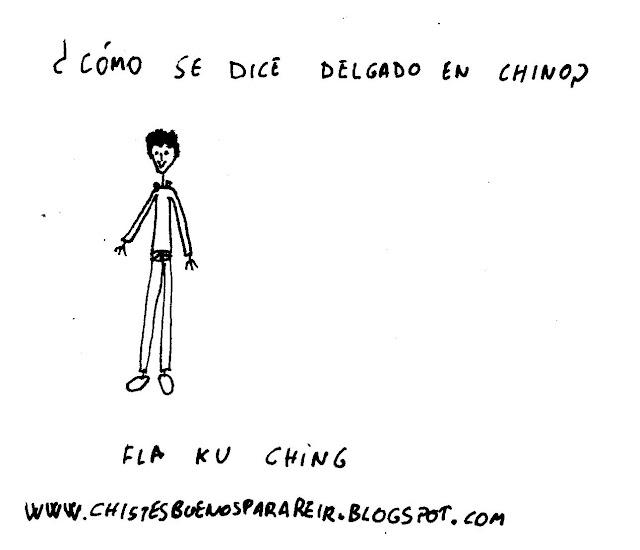 ¿cómo se dice delgado en chino? Fla Ku Ching