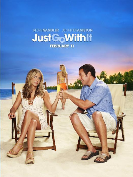 Poster of Just Go With It 2011 Hindi 720p BRRip Dual Audio Full Movie Download