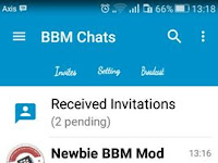 Download BBM Kimochi Simple Blue V3.0.1.25 Terbaru
