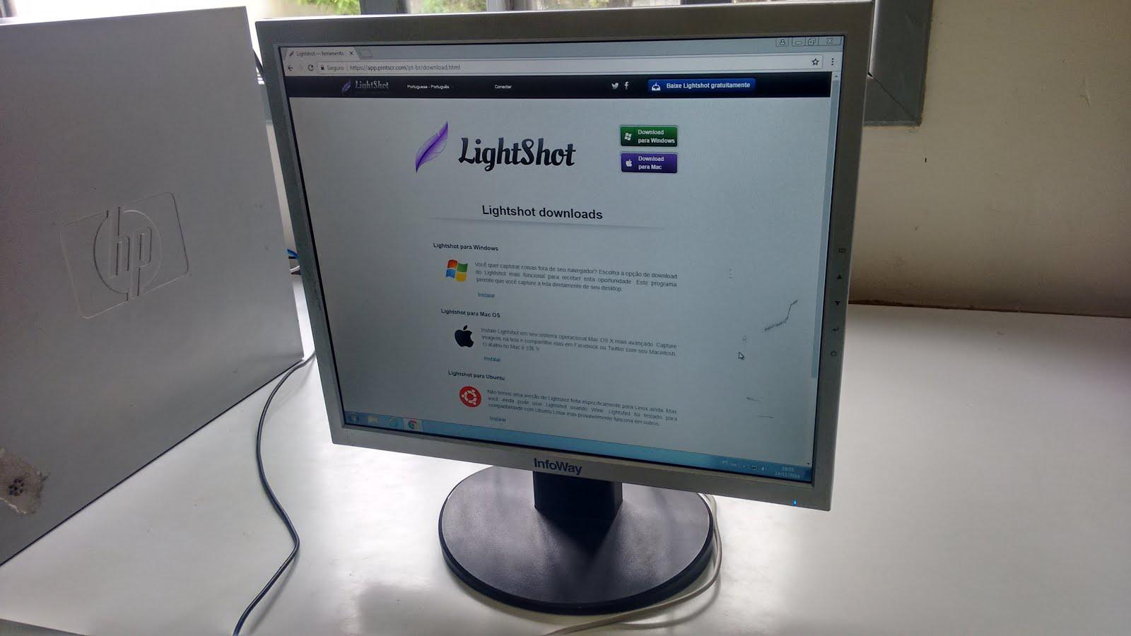 Educandos do Calábria aprendem sobre o programa Lightshot - Calábria